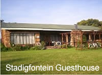 Stadigfontein Guesthouse at the slopes of the Suikerbos Rand Mountains.
